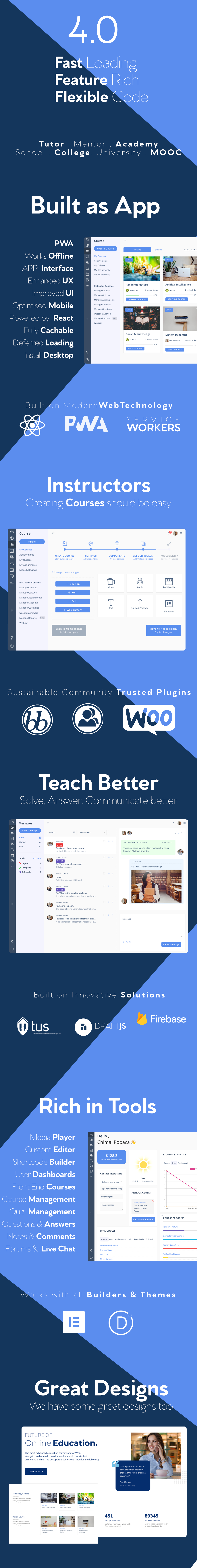 WPLMS Learning Management System for WordPress, Education Theme - 2